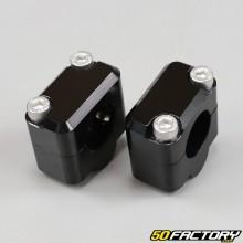 Abrazaderas de manillar negras hasta 22mm