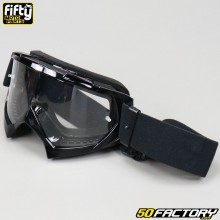 Goggles Fifty black clear screen