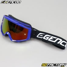 Masque Gencod bleu écran iridium rouge