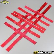 Nerf bars straps Yamaha YFM Raptor 125, 250, Blaster 200 and Banshee 350 Motorsport Products red