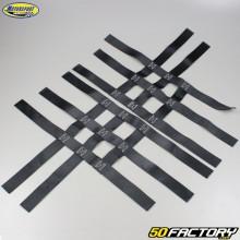 Nerf bars straps Yamaha YFM Raptor 350, 660, Honda TRX 250… Black Motorsport Products