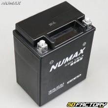 Batterie Numax YB14L-A2 SLA 12V 14Ah acide sans entretien Peugeot Geopolis, Aprilia Scarabeo, Piaggio X9...