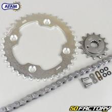 Kit de cadena de junta tórica reforzada 14x37x96 Suzuki LTR 450 (2011 - 2012) Afam gris