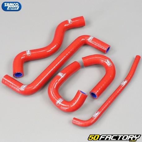 Honda cooling hoses CBR 125 and CB 125 R Samco red