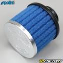 Filtro de ar longo e reto com carburador PHVA e PHBN Polini azul