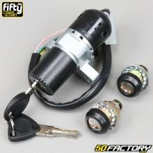 Interruptor de ignição e bloqueio de direção Derbi,  Peugeot,  Rieju,  Aprilia,  Gilera,  Beta... (pinos 6) Fifty