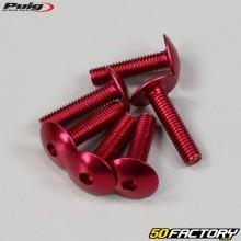 Parafusos 6x25mm anodizados vermelhos Puig (conjunto de 6)