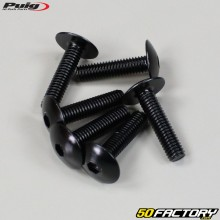 Parafusos 6x25mm anodizados pretos Puig (conjunto de 6)