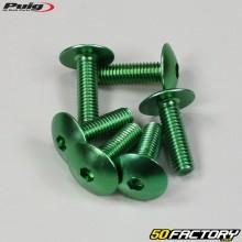 Parafusos 6x20mm anodizados verdes Puig (conjunto de 6)