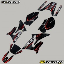 Kit déco Yamaha DT 50 et MBK X-Limit (depuis 2003) Gencod Evo rouge