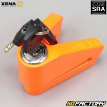 Bloqueio de disco anti-roubo aprovado Seguro SRA Xena X2 laranja