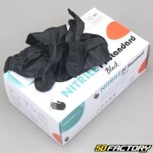 Gants nitriles jetables mécanicien noirs (lot de 90)