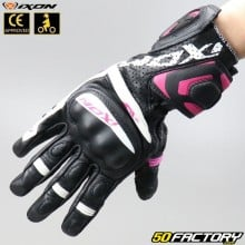 Luvas racing  Mulher ixon RS Tempo Air preto e rosa
