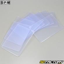 210x145mm placas de veículos SPM placas transparentes (conjunto de 10)