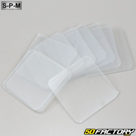 Plaques transparentes de plaques d'immatriculations 100x100mm SPM (lot de 10)