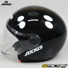 Casco jet Axxis Square Solid negro brillo
