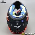 Helmet cross Axxis Wolf Star Track black and matt fluo red