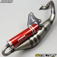 Exhaust pipe Voca Sabotage V2 red cartridge Minarelli horizontal MBK Nitro,  Ovetto,  Yamaha... 50 2T