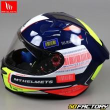 Casque intégral MT Helmets Revenge 2 RS bleu, jaune et orange
