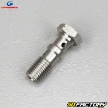 Banjo brake screw Ø10x1.25mm double Goodridge gray stainless steel