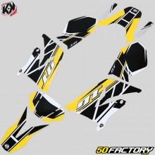 Dekor-kit Yamaha DT50 und MBK X-Limit (seit 2003) Kutvek Replica gelb