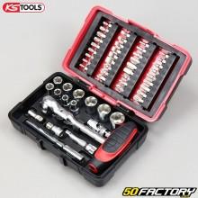 """Sockets e bits 1 / 4 """" KS Tools Ultimate (conjunto de peças 52)"""