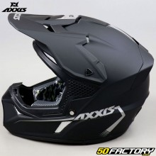 Capacete cross Axxis Wolf Solid preto mate