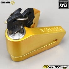 Seguro aprovado de bloqueio de disco anti-roubo SRA Xena X2 ouro