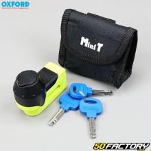 Bremsscheibenschloss Mini-T Oxford schwarz und gelb