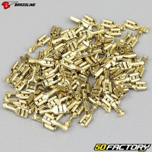 Female terminals 4.8mm to crimp (100 pieces) Brazoline
