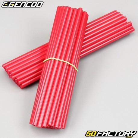 Speichenabdeckdungen Cover Gencod rot (Kit)