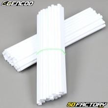 Speichenabdeckungen Cover Gencod weiß (Kit)