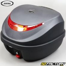 Top case 31L Awina schwarz mit rotem Reflektor