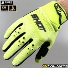 Gloves cross Shot Vision CE approved fluorescent yellow motorcycle