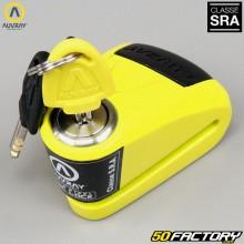 Anti-Diebstahl-Disc-Lock zugelassene Versicherung SRA Auvray Alarm B-LOCK-10 gelb und schwarz