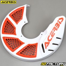 Front brake disc protector Ø280mm Acerbis X-Brake 2.0 white and orange