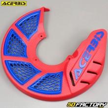 Front brake disc protector Ø280mm Acerbis X-Brake 2.0 red and blue