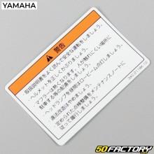 Sticker de conformité de réservoir d'essence Yamaha RZ 50