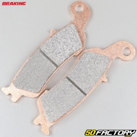 Plaquettes de frein métal fritté Yamaha YZ 125, 250, 450 et WR 450 Braking Racing