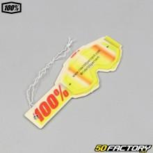 100% deodorante per ambienti a specchio rosso e giallo