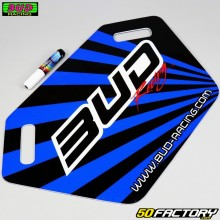 Pannello pit board Bud Racing bleue