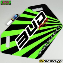 Pannello pit board Bud Racing Verde