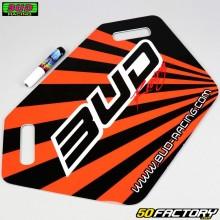 Pannello pit board Bud Racing arancione
