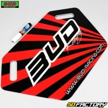 Pannello pit board Bud Racing rosso