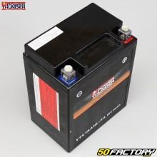 Batterie Power Thunder YTX14AHL-FA 12V 14Ah acide sans entretien Yamaha FZR, Suzuki GSX, Kawasaki KLR...