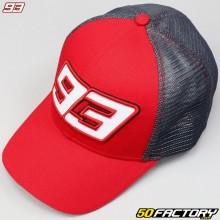 Gorra Marc Marquez 93 Baseball Trucker gris antracita y rojo