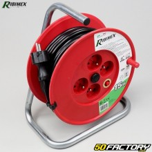Electric cable reel 4 sockets 3G1,5mm & sup2; Ribimex 15m