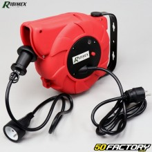 Automatic wall-mounted electric cable reel 3G1,5mm & sup2; Ribimex 9m