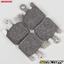 Plaquettes de frein semi-métal Kawasaki ZX 6RR Ninja 600, Suzuki Boulevard 1600... Braking Racing