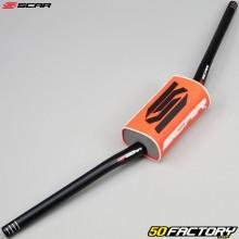 Manubrio Ø28mm Scar O & sup2; Mini Low nera con schiuma arancione